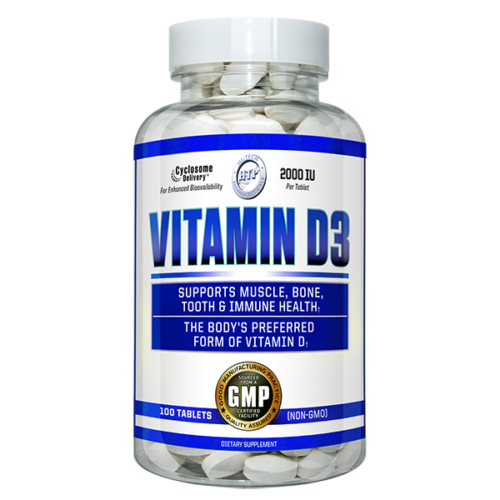 Hi-Tech Pharmaceuticals Vitamin D3 100ct 2000 IU Phospholipid Cyclosome Delivery FREE SHIPPING