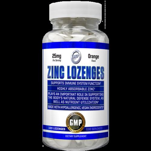 Zinc Lozenges 25mg 100 Days Supply MAX BOOST IMMUNITY Orange Flavor - Hi Tech
