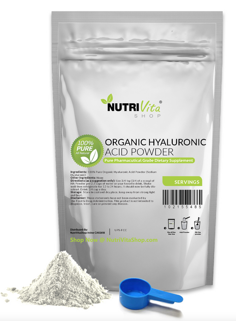 100% PURE HYALURONIC ACID POWDER (SODIUM HYALURONATE) USP ANTI-AGING JOINT NEW