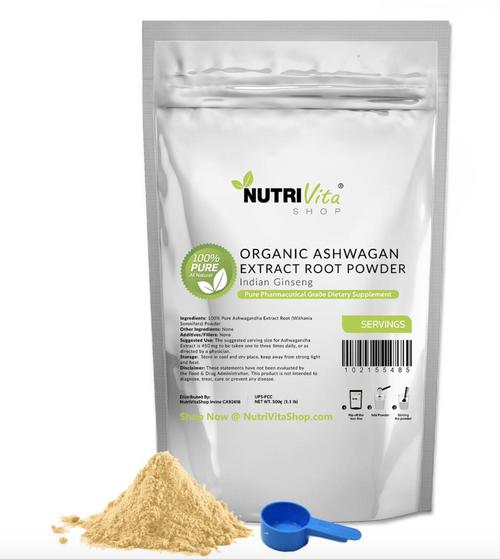 100% Pure Organic Ashwagandha Root Powder Withania Indian Ginseng USA NVS nonGMO