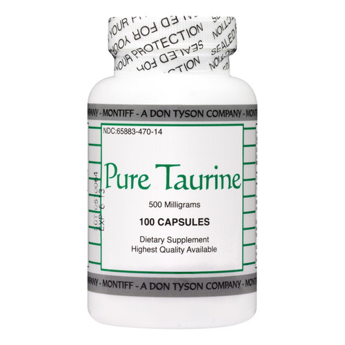 Montiff Pure Taurine, 500mg - 100 Capsules
