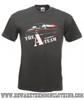 A Team Van Retro TV Show Mens Graphite T Shirt