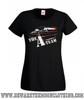 A Team Van Retro TV Show Ladies Black T Shirt