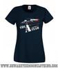 A Team Van Retro TV Show Ladies Navy T Shirt
