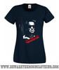 Terminator Classic Retro Movie T Shirt Ladies Navy