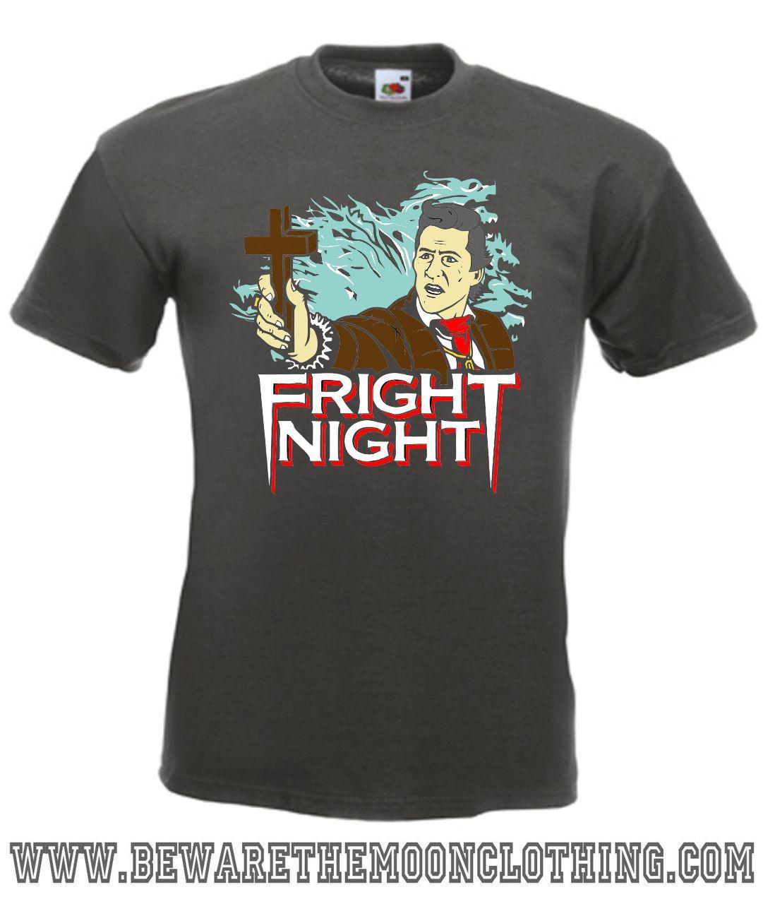 Fright Night Peter Vincent Retro Horror Movie T Shirt
