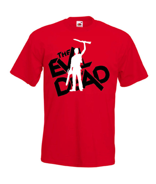 Mens red Evil Dead Classic Horror Movie T Shirt