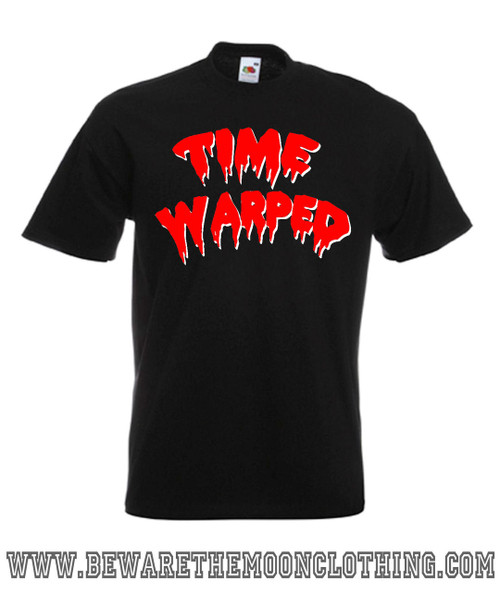 Mens black Time Warped Rocky Horror Picture Show Movie T Shirt