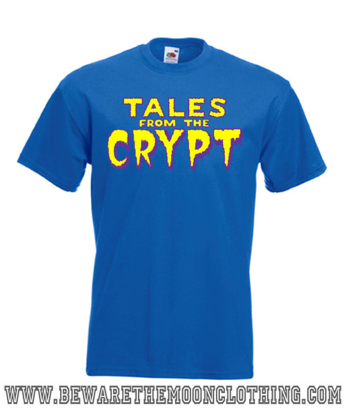 Mens royal blue Tales From The Crypt Horror TV T Shirt