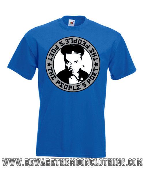 Mens royal blue People's Poet Young Ones 80s Comedy T Shirt