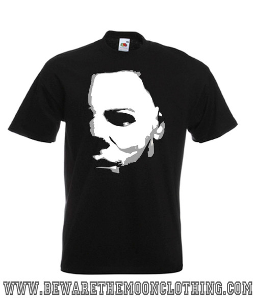 Mens black Michael Myers Halloween Horror Movie T Shirt
