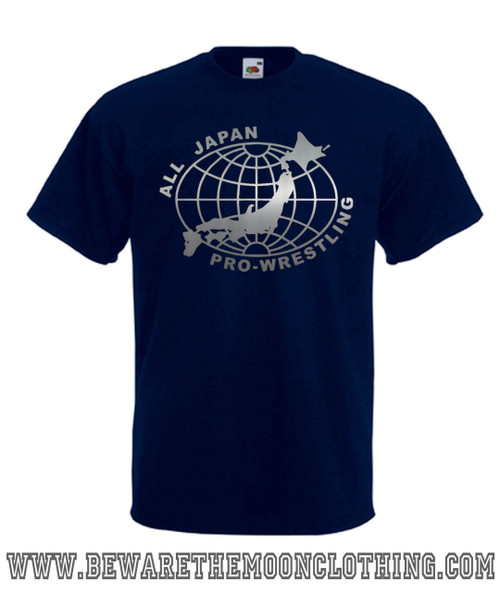 Mens navy All Japan Pro Wrestling T Shirt