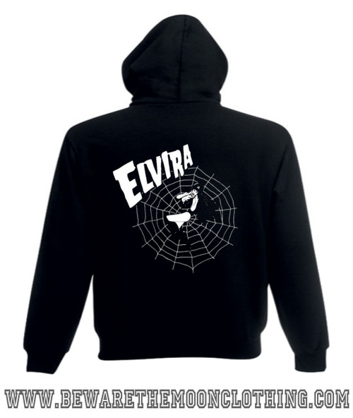 ecfeaa539 ... Super Premium Fruit Of The Loom T Shirt; Unisex black Elvira Gothic Web  Design hoodie