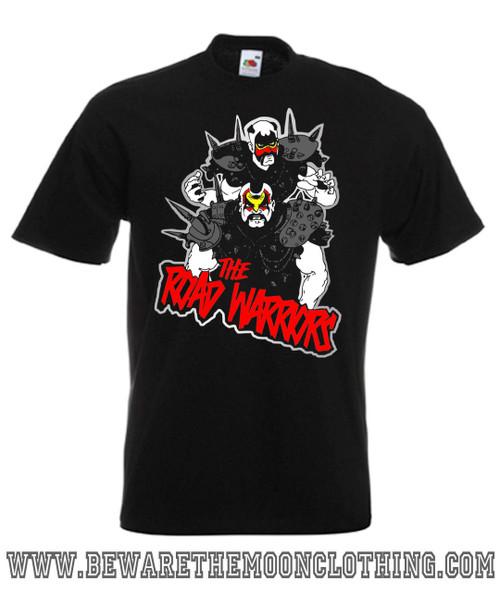 Mens black Road Warriors Legion Of Doom Wrestling T Shirt