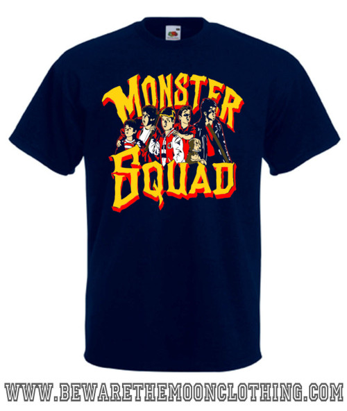 Mens navy Monster Squad 80s Movie T Shirt
