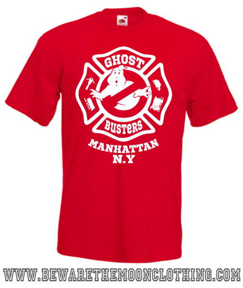 Mens red Ghostbusters movie T Shirt