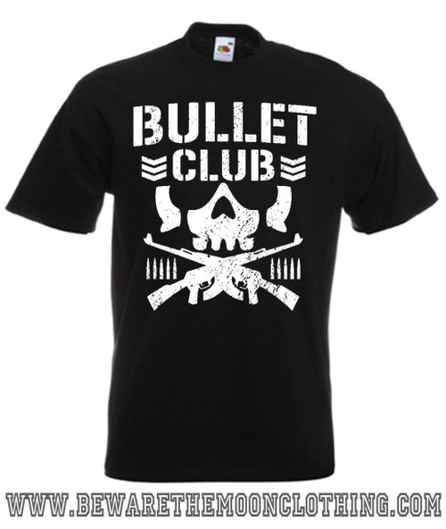 Mens Black Bullet Club New Japan Pro Wrestling T Shirt