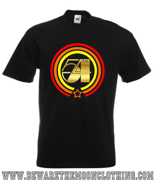 Studio 54 Retro Disco Music T Shirt Mens Black