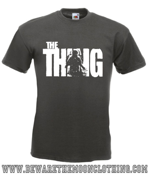 The Thing John Carpenter Sci Fi Horror Movie T Shirt Mens Graphite