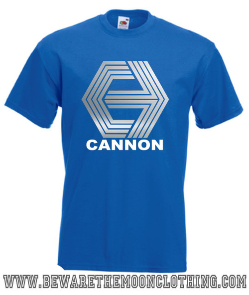 Cannon Films Retro Movie T Shirt Mens Royal Blue