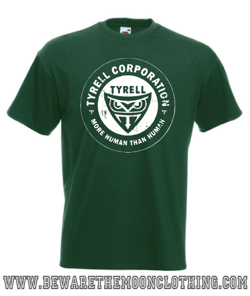 Tyrell Corporation Blade Runner Retro Movie T Shirt Mens Bottle Green