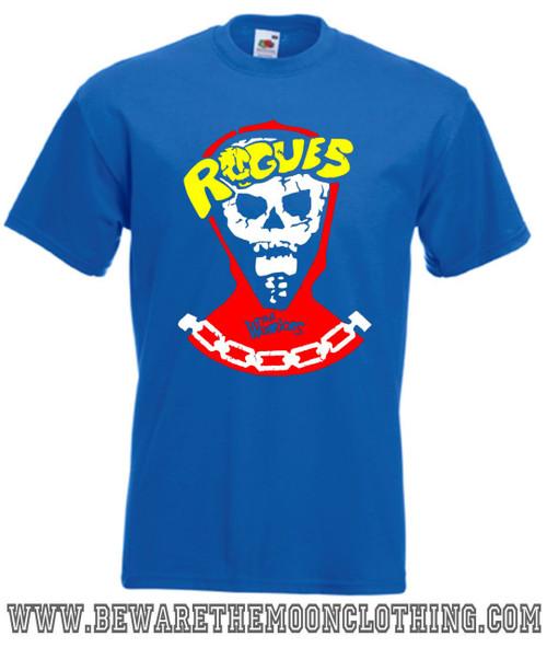 The Warriors Rogues Gang Retro Movie T Shirt mens royal blue