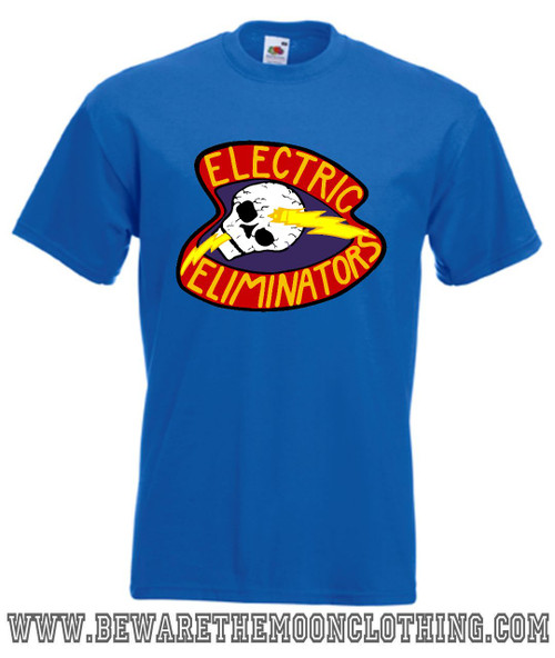 The Warriors Electric Eliminators Retro Movie T Shirt mens royal blue