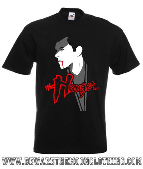 David Bowie The Hunger Retro Horror Movie T Shirt mens black