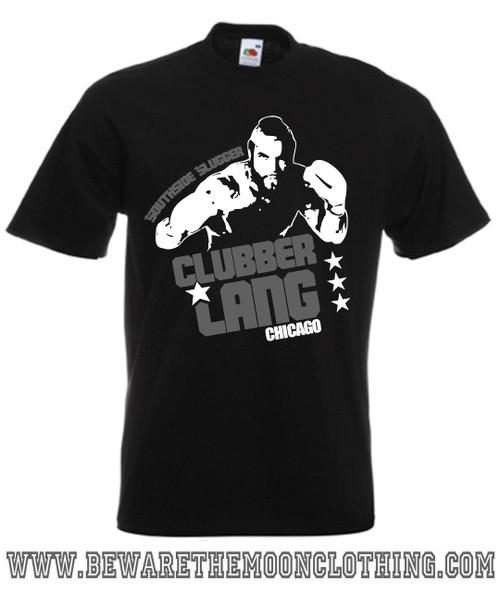 Clubber Lang Mr T Retro Rocky Movie T Shirt mens black