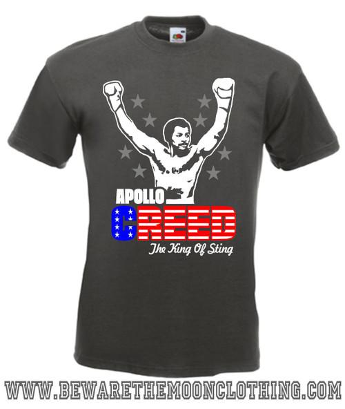 Apollo Creed Retro Rocky Movie T Shirt mens graphite