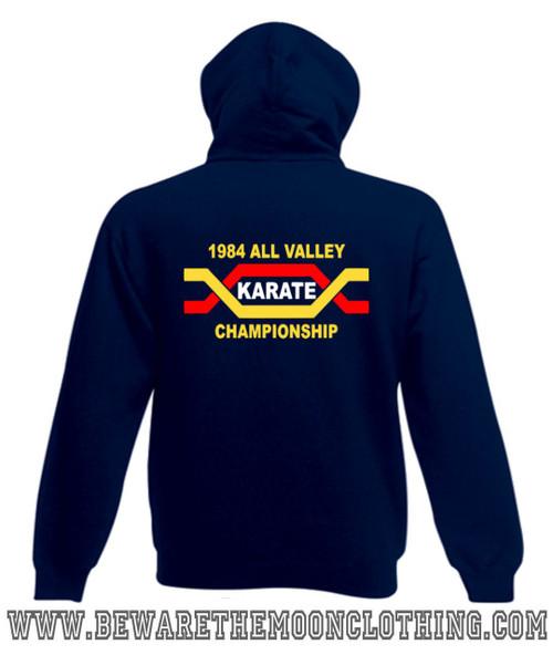 108ad6896361 ... Shirt kids navy; Karate Kid All Valley Karate Championship Retro Movie  hoodie navy ...