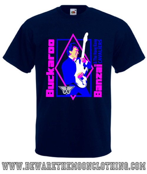 Buckaroo Banzai Retro Movie T Shirt mens navy
