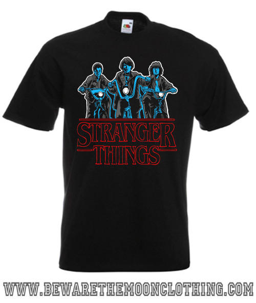 Stranger Things TV Show T Shirt mens black