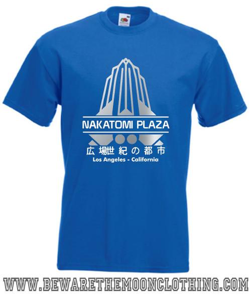 Nakatomi Plaza Die Hard Movie T Shirt mens royal blue
