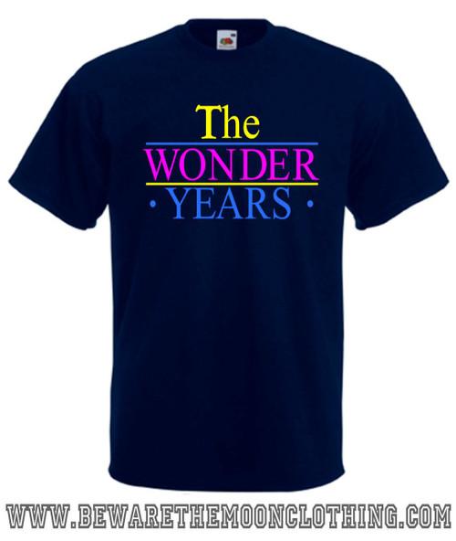 The Wonder Years retro TV Show T Shirt mens navy