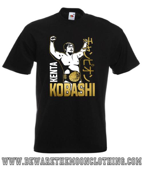 Kenta Kobashi Japanese Wrestling Legend T Shirt mens black