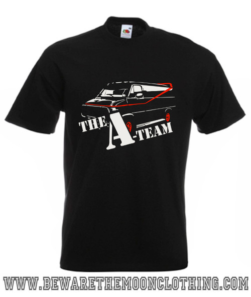 A Team Van Retro TV Show Mens Black T Shirt