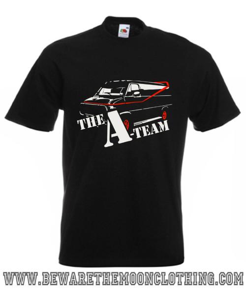 A Team Van Retro TV Show Mens Black T Shirt