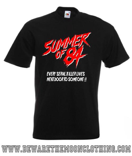 Summer Of 84 retro horror movie T Shirt mens black