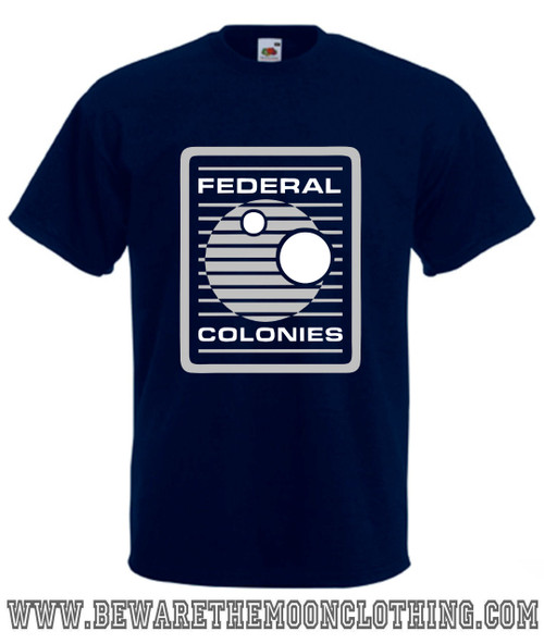 Federal Colonies Total Recall Movie T Shirt Mens Navy