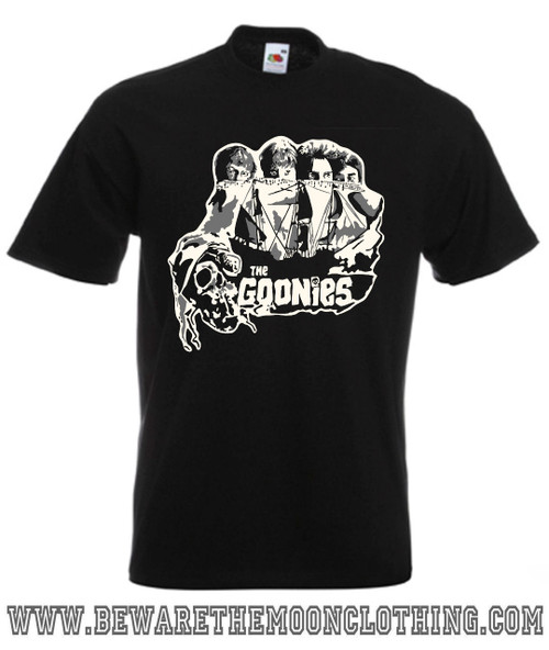 Goonies Classic Retro Movie T Shirt Mens Black