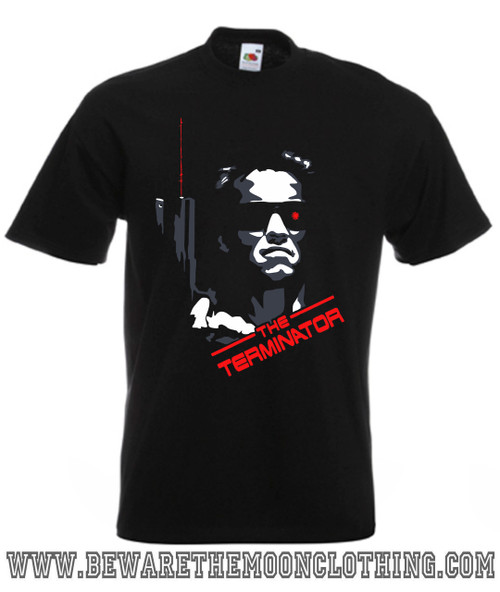 Terminator Classic Retro Movie T Shirt Mens Black