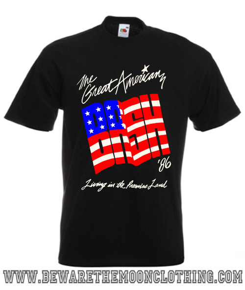 NWA WCW Great American Bash 1986 Wrestling T Shirt Mens Black