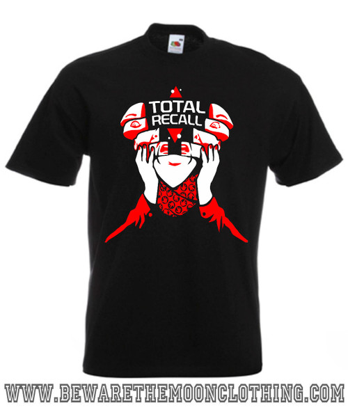 Total Recall Movie T Shirt mens black