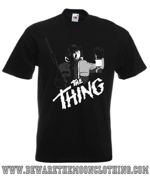 The Thing R.J MacReady Kurt Russell Movie T Shirt mens black