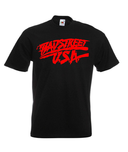 Mens black Fabulous Freebirds Badstreet USA Wrestling T Shirt