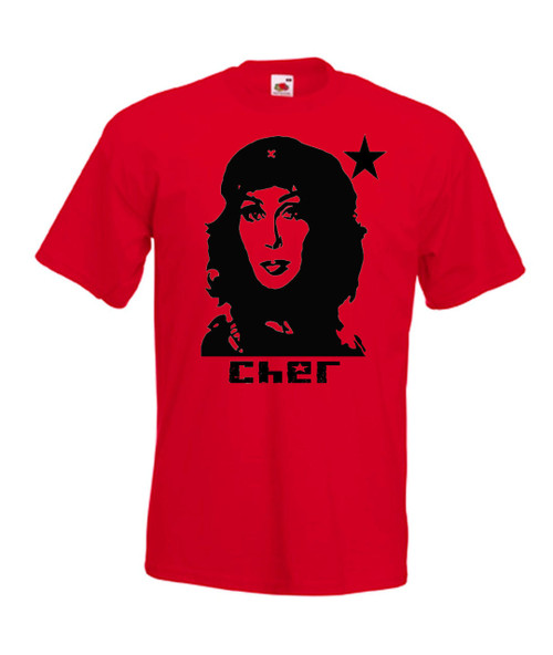 Mens red Cher Guevara T Shirt
