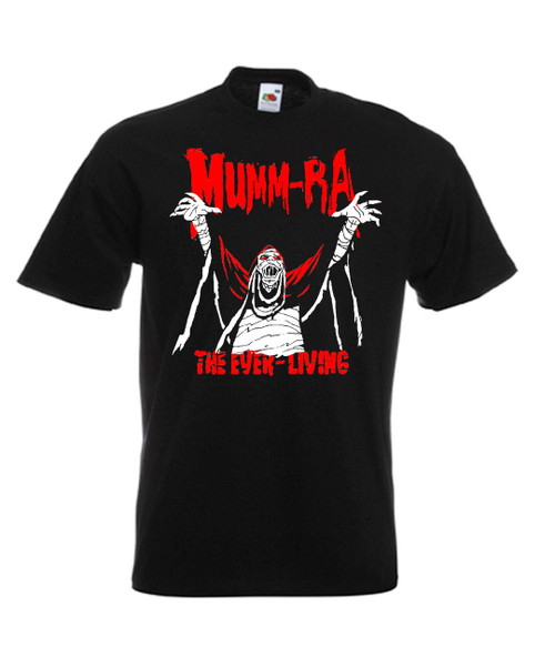 Mens black Mumm Ra Thundercats Cartoon T Shirt