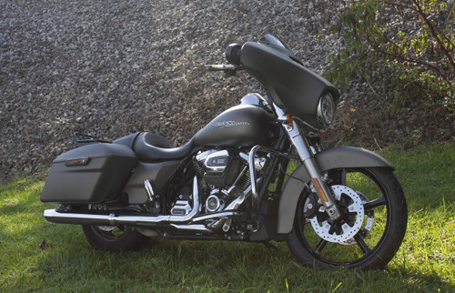 ROCKSTAR FORGED SOLID BLACK TRI GLIDE AND FREEWHEELER