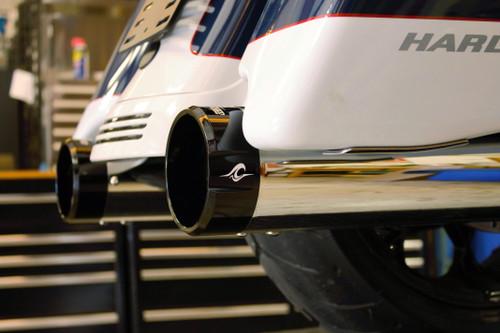 "Coastal Moto ""Deep Shot"" Chrome Slip-On Mufflers For Touring Models"